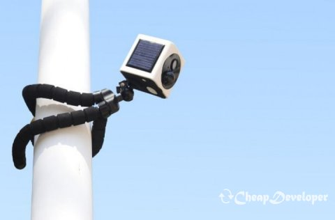 EyeCube - a compact wireless surveillance camera with a solar battery