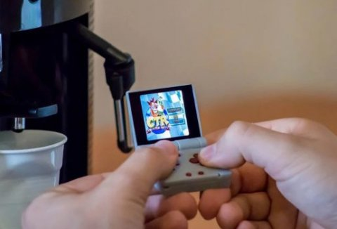 FunKey S - A Tiny Foldable Keychain-sized Game Console