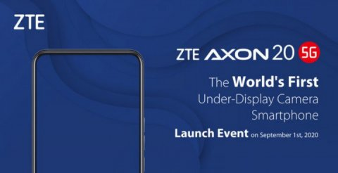 ZTE Axon 20 5G becomes the first smartphone with a sub-screen camera
