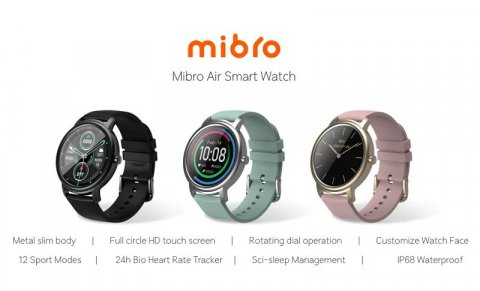 Xiaomi introduced Mibro Air smart watch with IP68 protection for $32