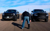 Ram 1500 TRX and Ford F-150 Raptor - Heavy-duty American pickups fought in drag [Video]