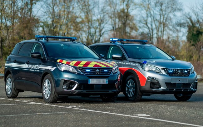 Peugeot 5008 crossover became a police car in France