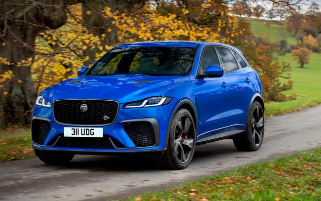 Jaguar updated the sports version of the F-Pace crossover