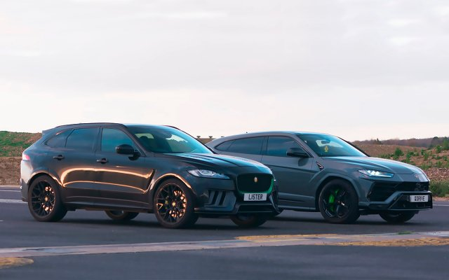 Lamborghini Urus fought with Lister Stealth in drag [video]