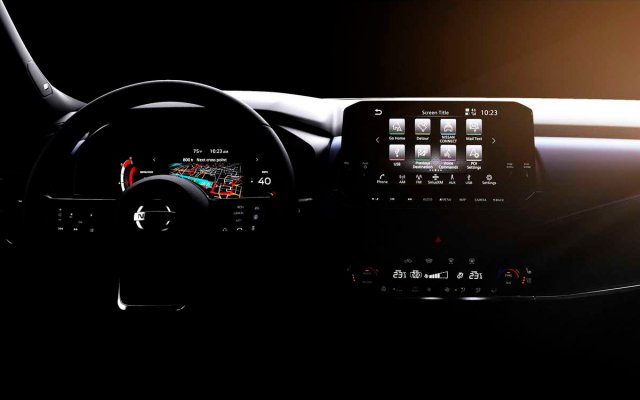 Nissan showed the interior of the new Qashqai